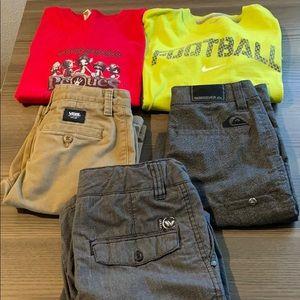 Quicksilver Vans Boys Shorts Bundle & Bonus